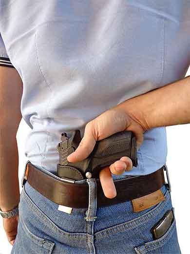 Открытая кожаная кобура для скрытого ношения за спиной пистолетов GP T11, GP T12, Vendetta